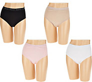 Breezies Set of 4 Cotton Brief Panties - A287801