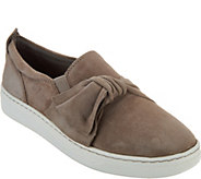 Earth Suede Slip-ons with Knot Detail - Zoey - A296201