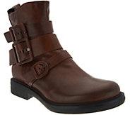 Miz Mooz Leather Triple Buckle Ankle Boots - Casper - A300301