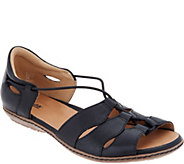 Earth Leather Bungee Slip-on Sandals - Aloha - A301901