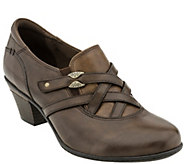 Earth Leather Slip-on Booties - Kindle - A338101