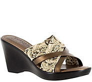 Tuscany by Easy Street Wedge Slide Sandals - Biella - A339001