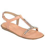 Aerosoles Embellished T-strap Sandals - Chronicle - A340501