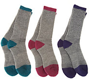 Catawba Set of 3 Merino Wool Blend Boot Socks - A70001