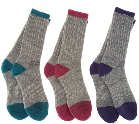 Catawba Set of 3 Merino Wool Blend Boot Socks
