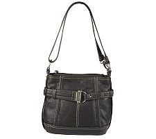 Tignanello Glove Leather Cinched Belt Double Entry Hobo Bag