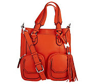 Aimee Kestenberg Leather Shoulder Bag w/Front Pockets - A234302