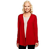 Linea by Louis DellOlio Whisper Knit Drape Front Cardigan - A237402