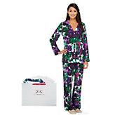 Isaac Mizrahi Live! Floral Printed Pajama Set - A239102