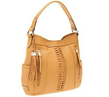 Tignanello Glove Leather Posh Braid Hobo