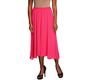 Joan Rivers Georgette Pull-on Skirt with Hi-Low Hem - A253702