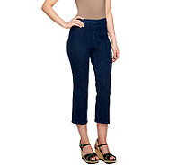 Isaac Mizrahi Live! Petite 365 Stretch Denim Crop Pants - A254302