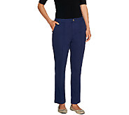 Liz Claiborne New York Jackie Twill Ankle Pants - A256802