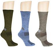 Catawba Set of 3 Lightweight Everyday Boot Socks - A257602