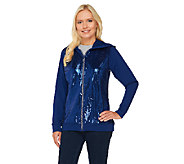 Quacker Factory Long Sleeve Zip Front Sequin Jacket - A259302
