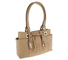 "As Is"" Tignanello Pebble Leather Shopper w/Bow"