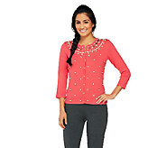 Isaac Mizrahi Live! Special Edition Embellished Cardigan - A262102