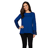 Dennis Basso Blouse with Cuff Detail and Hi-Low Hem - A262602