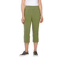 LOGO Layers by Lori Goldstein Pull-On Knit Capri Pants - A264602