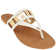 Sole Society Cut-out Thong Sandals with Hardware - Jude - A265502