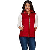 Susan Graver Zip Front Sweater Vest with Quilting Detail - A268002