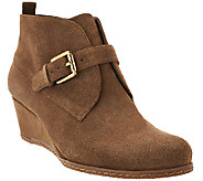 Franco Sarto Suede Wedge Ankle Boots - Amerosa - A268702