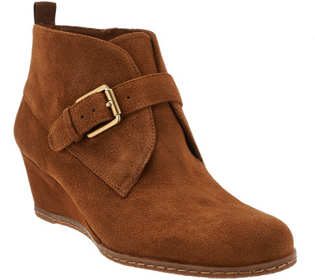 franco sarto suede wedge ankle boots amerosa a268702
