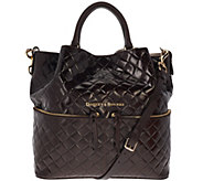 Dooney & Bourke Large Woven Embossed Dawson Satchel - A272202