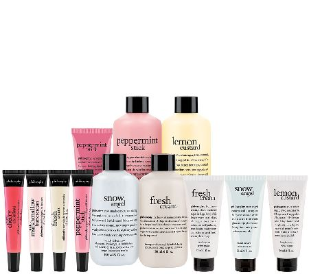philosophy happy holidays 12 piece bath & body collection