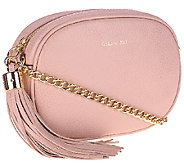 As Is G.I.L.I. Italian Vintage Pebble Leather Oval Crossbody - A274202