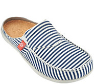 Spenco Orthotic Stripe Canvas Slides with Goring - Siesta Montauk - A274702