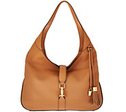 As Is G.I.L.I Classic Leather Hobo - Verona - A283102