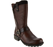 Earth Leather Mid-Shaft Boots with Side Zip - Presley - A284102