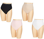Breezies Set of 4 Cotton Hi-Cut Panties - A287802