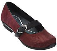 As Is Dansko Leather Mary Janes with Adjustable Strap - Orla - A288902