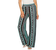 Attitudes by Renee Pull-On Printed Wide Leg Pants - A290802