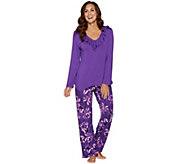 Carole Hochman Midnight Fleur Rayon Spandex Pajama Set - A293902