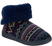 MUK LUKS Fold Over Cuff Slipper Booties - A297902
