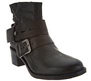 Miz Mooz Leather Ankle Boots w/ Stud Details - Faithful - A300302