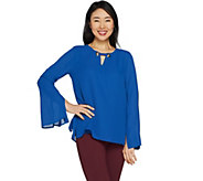 Laurie Felt Blouse with Link Neck Detail - A301702