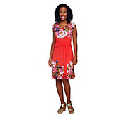 As Is Isaac Mizrahi Live! Sleeveless Floral Printed Knit Dress - A302302