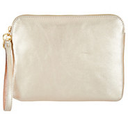 G.I.L.I. Unlined Leather Flat Wristlet - A302702