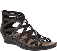 Earth Leather Multi-Strap Wedge Sandals - Juno - A304202