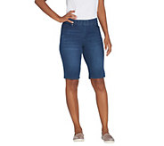 Kelly by Clinton Kelly Pull-On Denim Bermuda Shorts - A305902