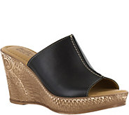 Bella Vita Leather or Suede Slide Wedges - Dax - A356702