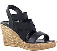 Tuscany by Easy Street Strappy Wedge Sandals -Felisa - A356802