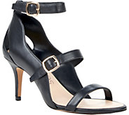 Sole Society Triple Strap Leather Sandals - Carine - A357002