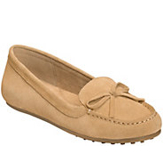 Aerosoles Suede Moccasin Loafers - Long Drive - A359402