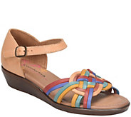 Comfortiva Woven Leather Huarache Sandals - Fortune - A412702