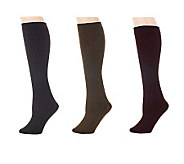 Legacy Set of 3 Patterned Flip Side Fleecy Socks - A227503